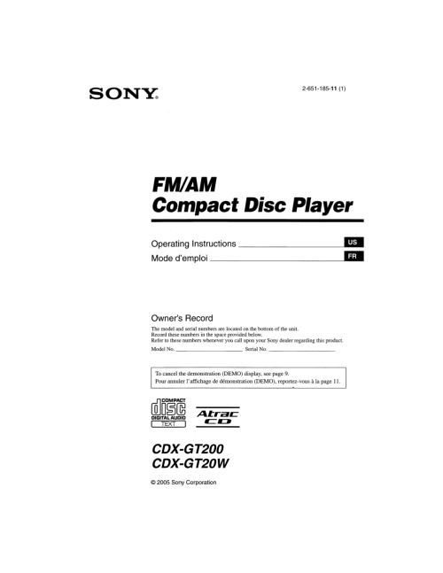 small resolution of pdf for sony car receiver cdx gt200 manual