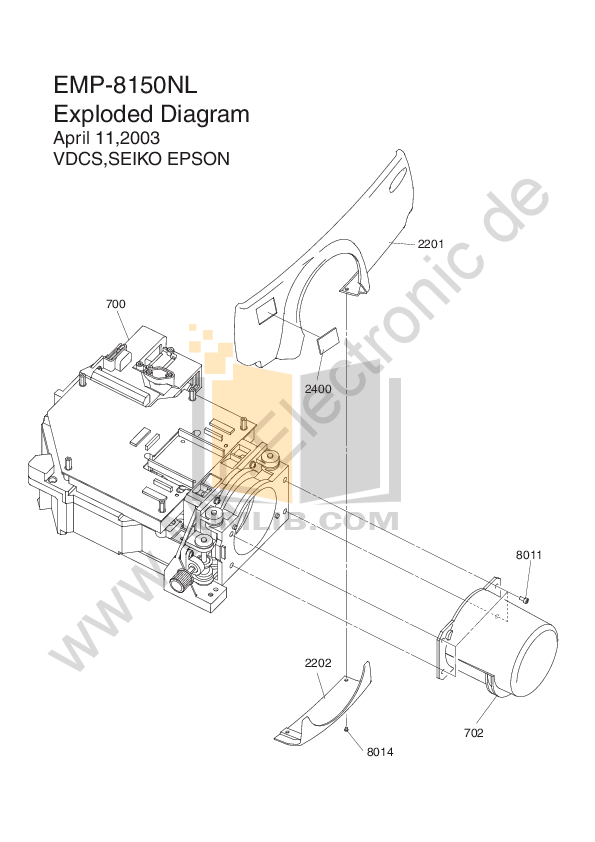 Download free pdf for Epson EMP-8150 Projector manual