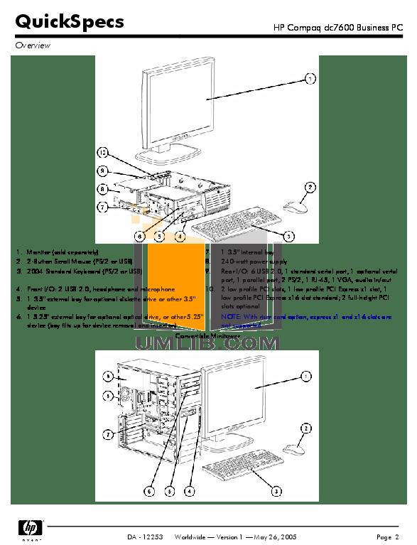 PDF manual for HP Desktop Compaq dc7600 MT
