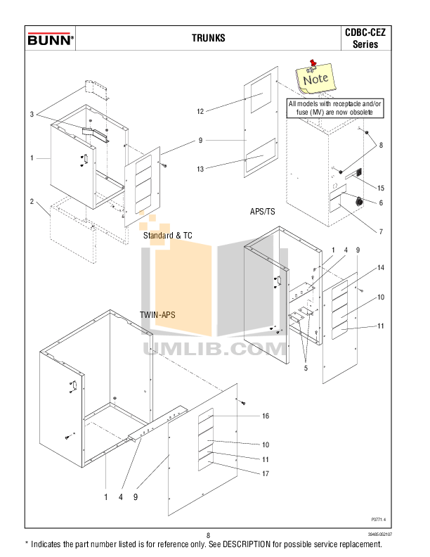 PDF manual for Bunn Coffee Maker CDBC TWIN APS