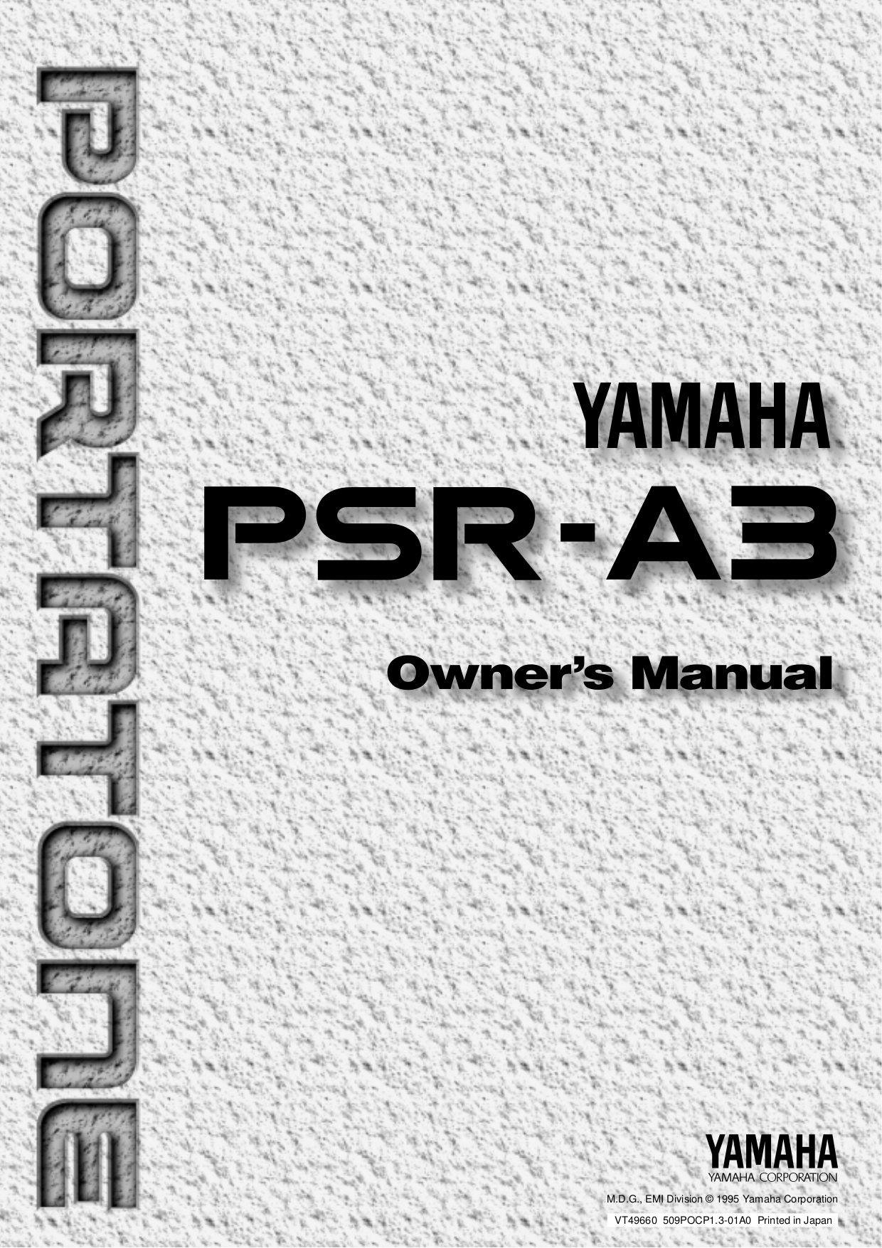 Download free pdf for Yamaha A3R Guitar manual