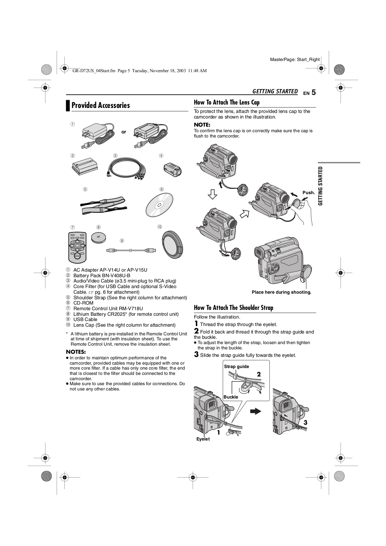 PDF manual for JVC Camcorders GR-D94US