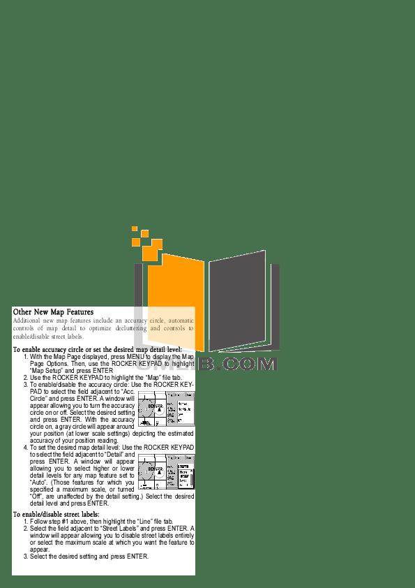 PDF manual for Garmin GPS GPS III Plus