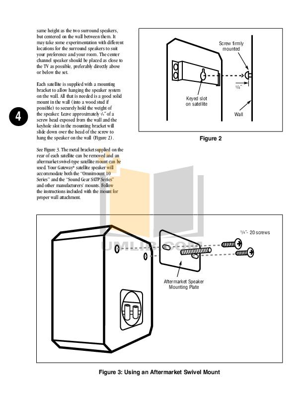 PDF manual for Gateway Speaker CC303