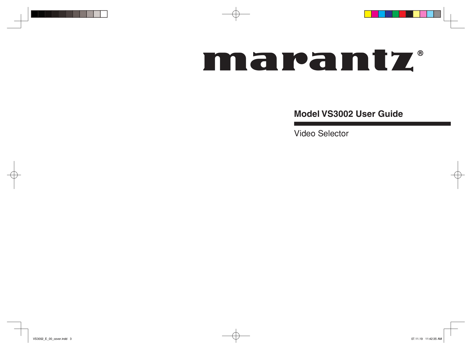 Download free pdf for Marantz SR4002 Receiver manual