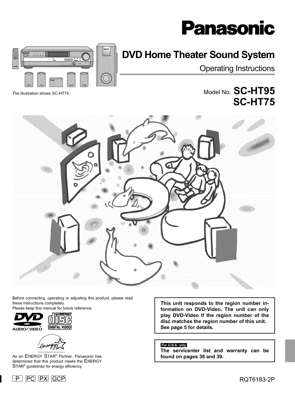 Download free pdf for Panasonic SC-HT75 Home Theater manual