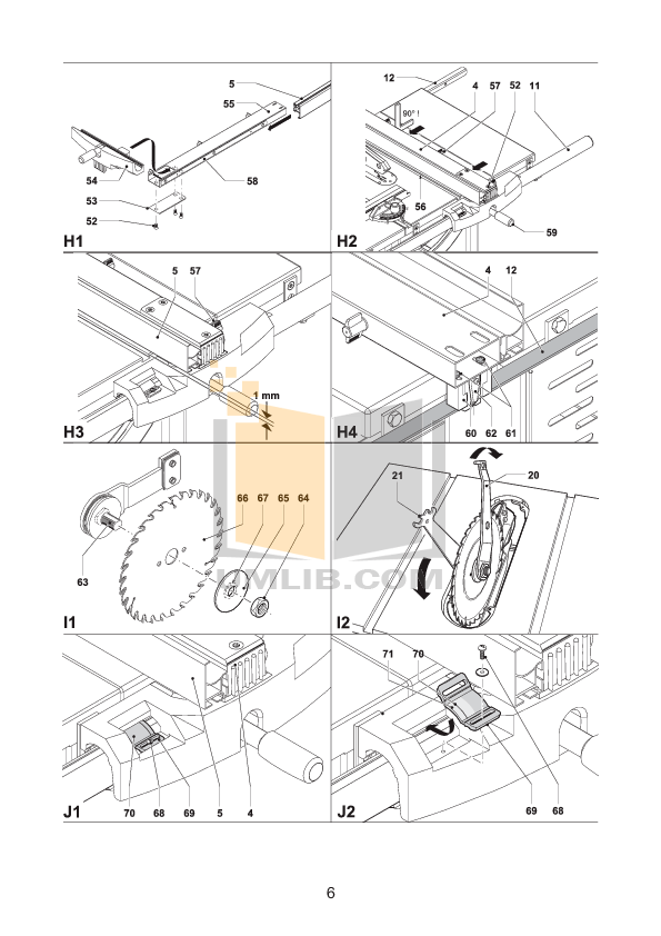 PDF manual for Dewalt Other DW746 Table Saw