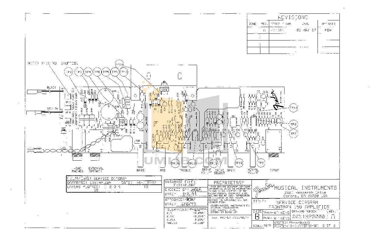PDF manual for Fender Amp Frontman 15G