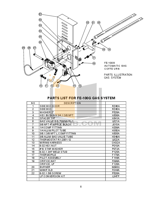 PDF manual for Cecilware Coffee Maker FE100N