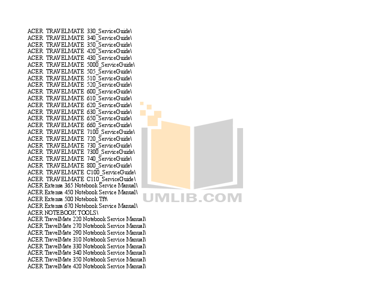 PDF manual for Acer Laptop Extensa 4620Z