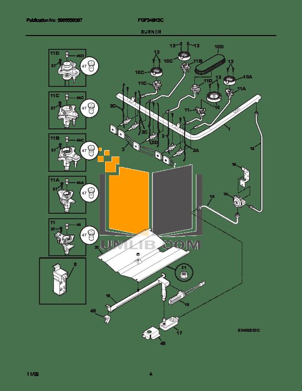 PDF manual for Frigidaire Range FGF348KS