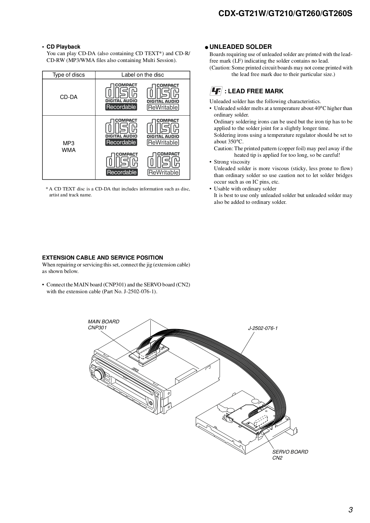 PDF manual for Sony Car Receiver CDX-GT210