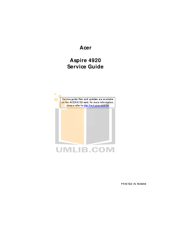 Download free pdf for Acer Aspire TimelineX 5830T Laptop