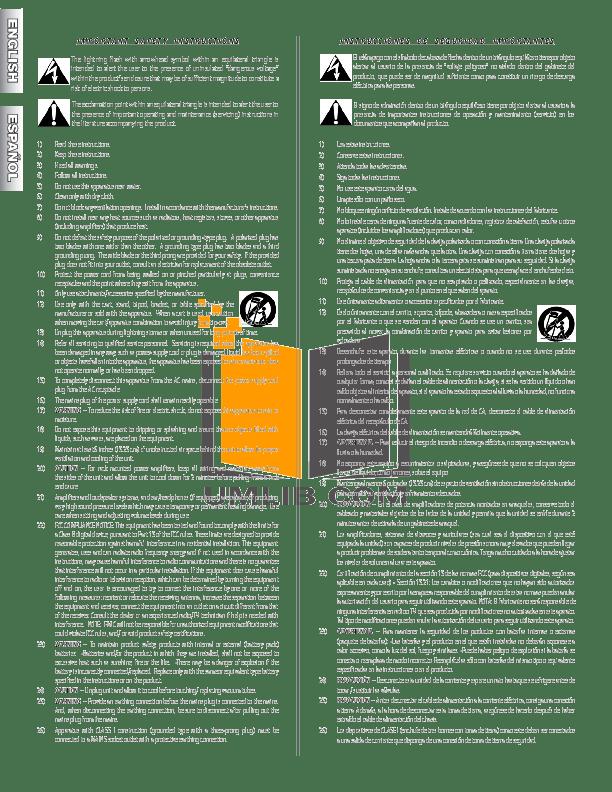 PDF manual for Fender Amp Super Champ-XD