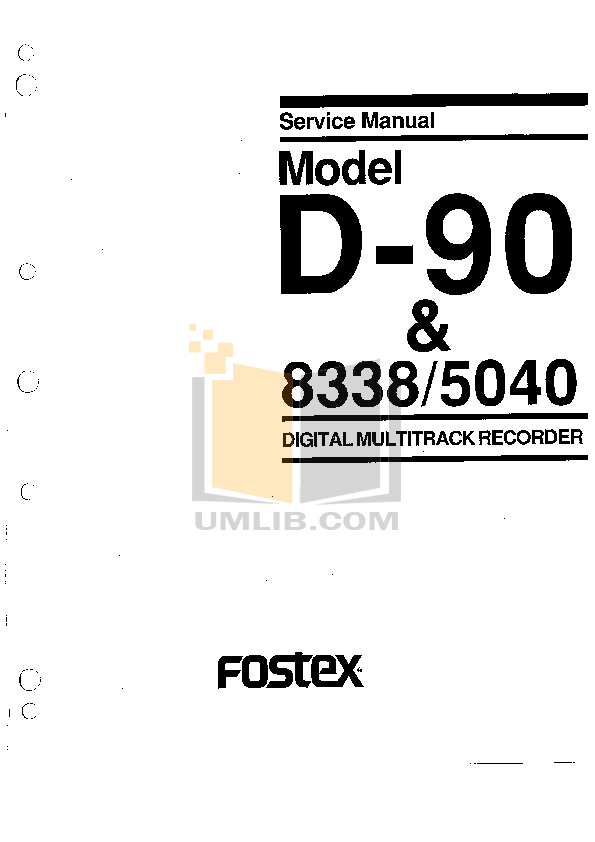 PDF manual for Fostex Other 8338 SCSI Interface-Card
