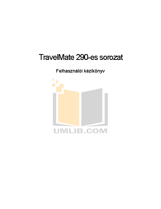 Download free pdf for Acer TravelMate 290 Laptop manual