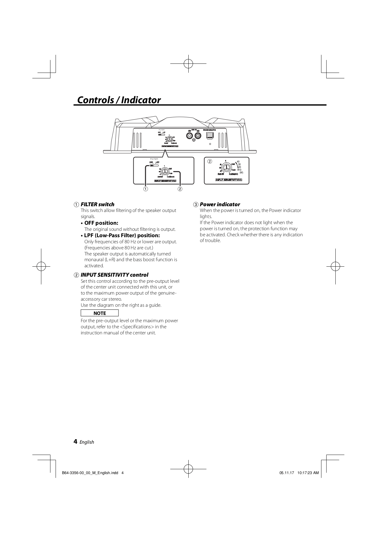 PDF manual for Kenwood Amp KAC-721