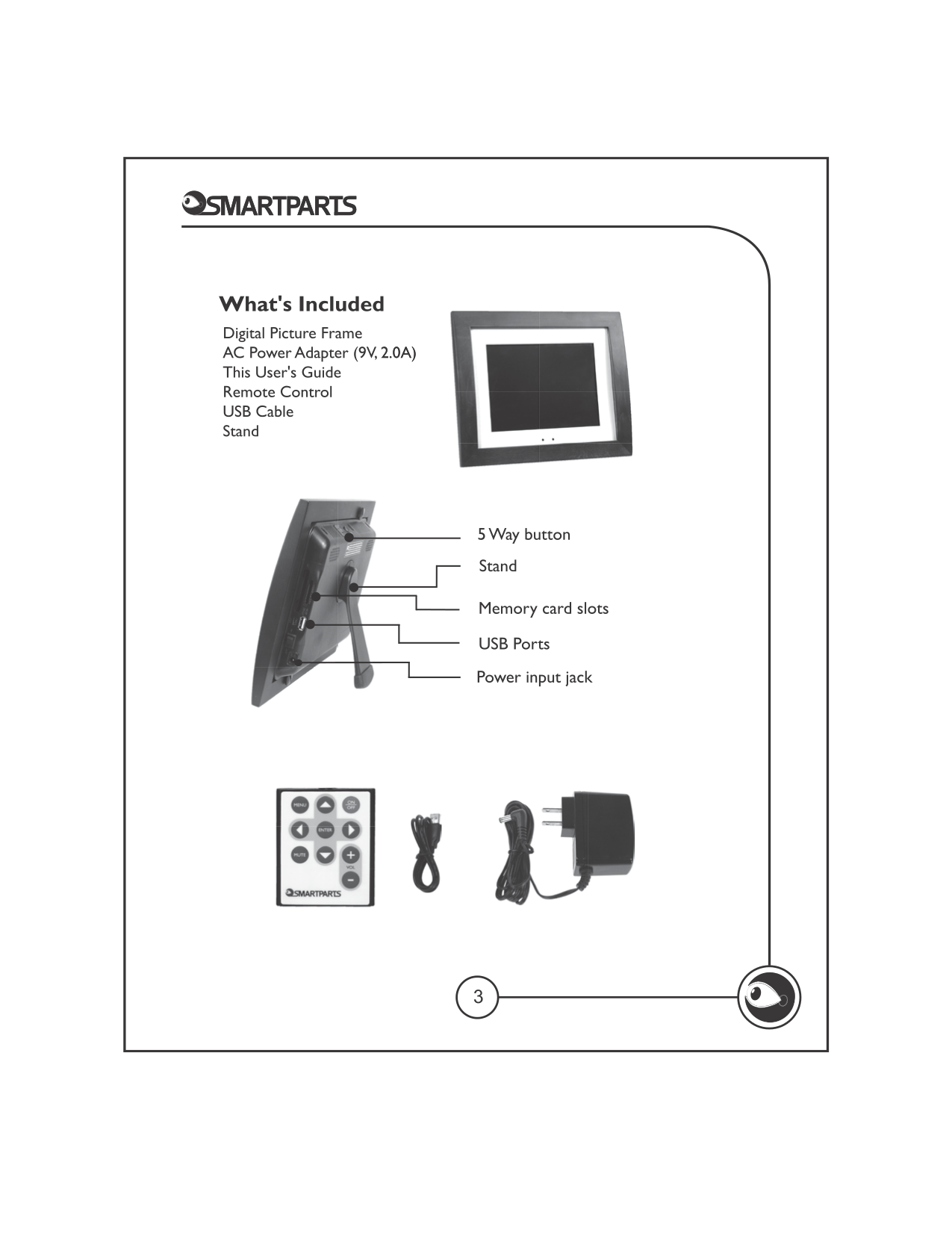 PDF manual for Smartparts Digital Photo Frame Syncpix SPX12