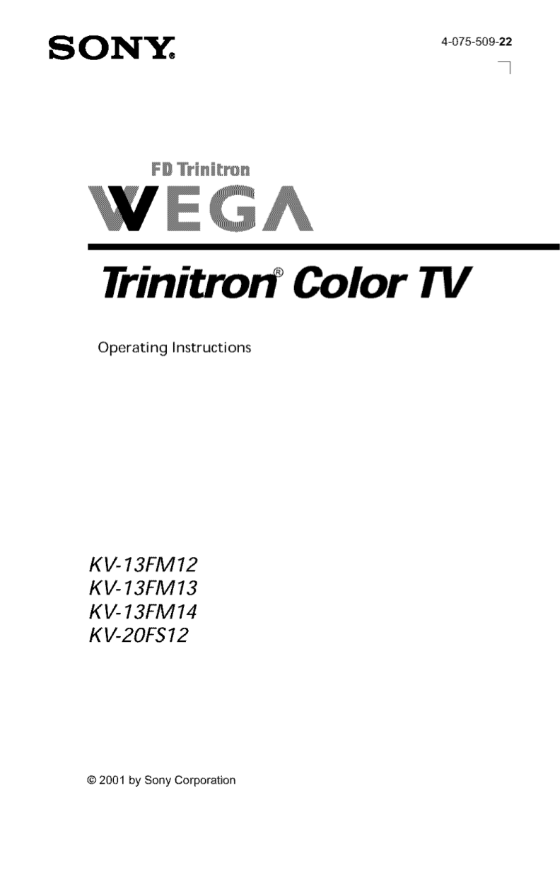 Download free pdf for Sony WEGA KV-20FS12 TV manual