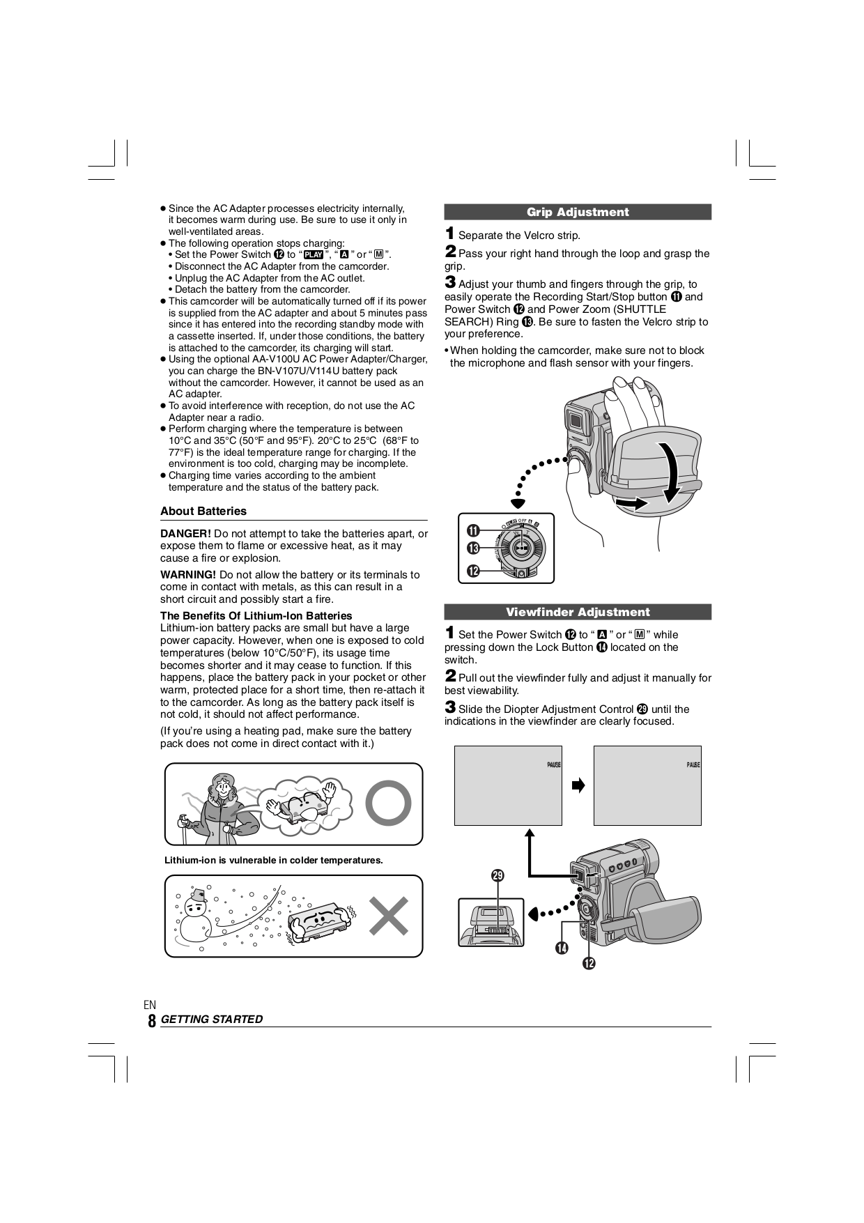 PDF manual for JVC Camcorders GR-DX75AA