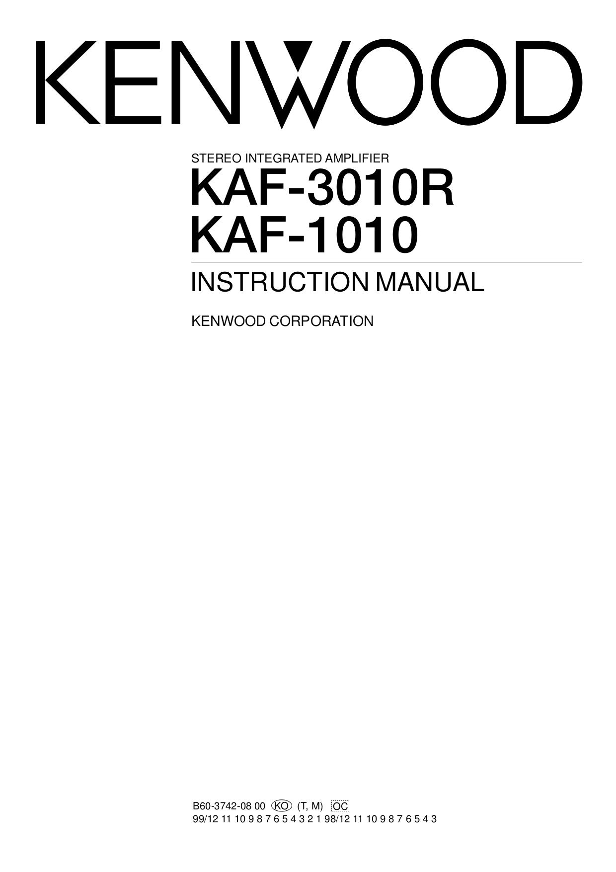 Download free pdf for Kenwood KA-95 Amp manual