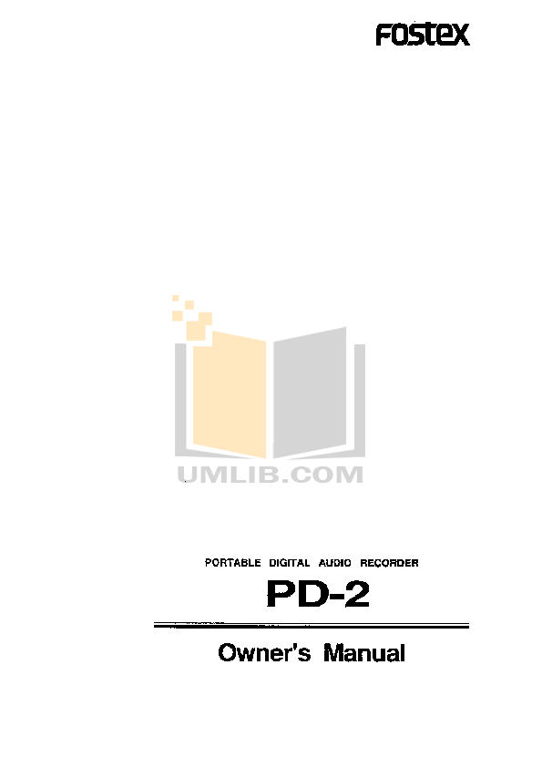 Download free pdf for Fostex PD-4 Audio Recorders Other manual