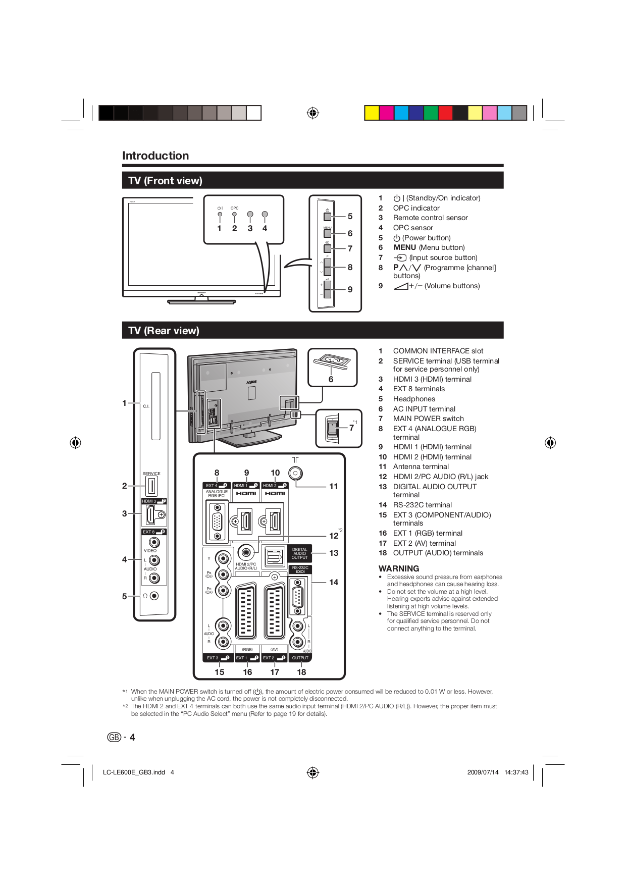 PDF manual for Sharp TV AQUOS LC-32L400M