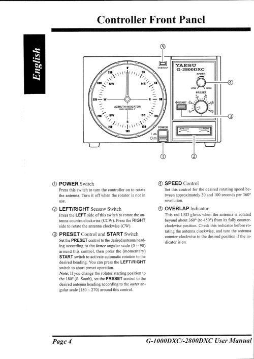small resolution of  yaesu other g 800sa rotator pdf page preview
