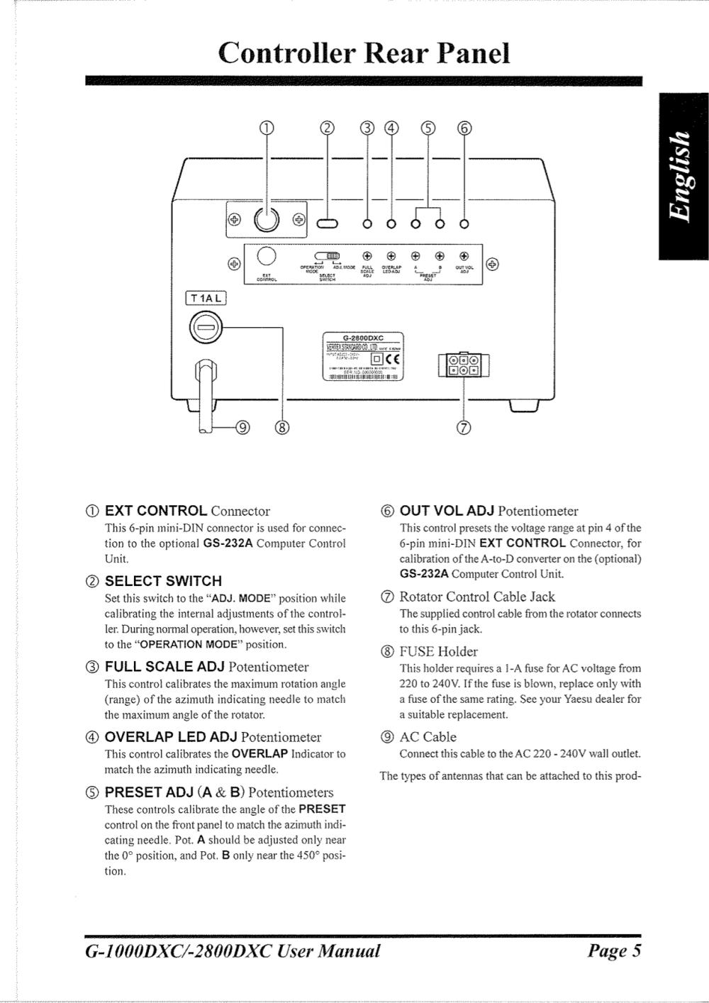 medium resolution of  yaesu other g 800sa rotator pdf page preview