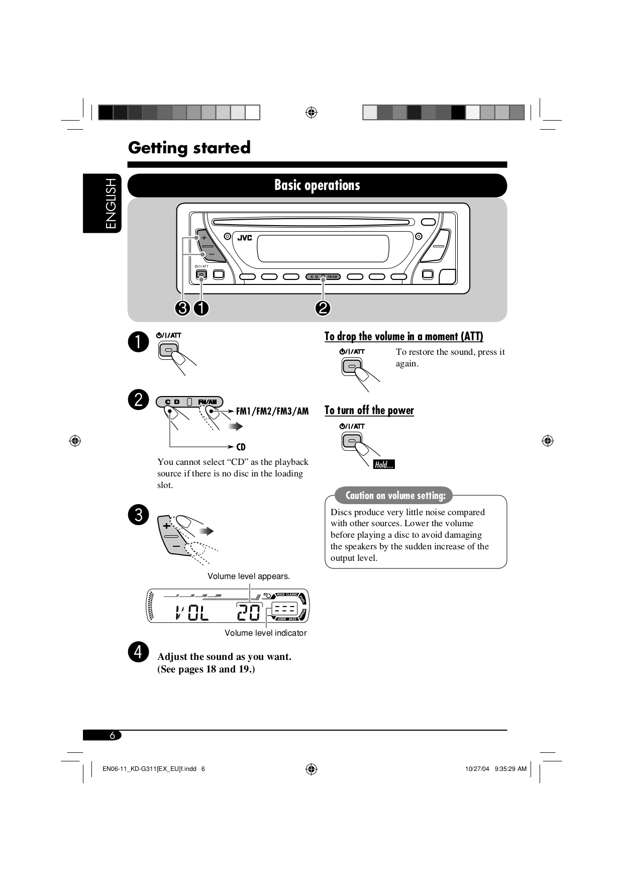 PDF manual for JVC Car Receiver KD-G311