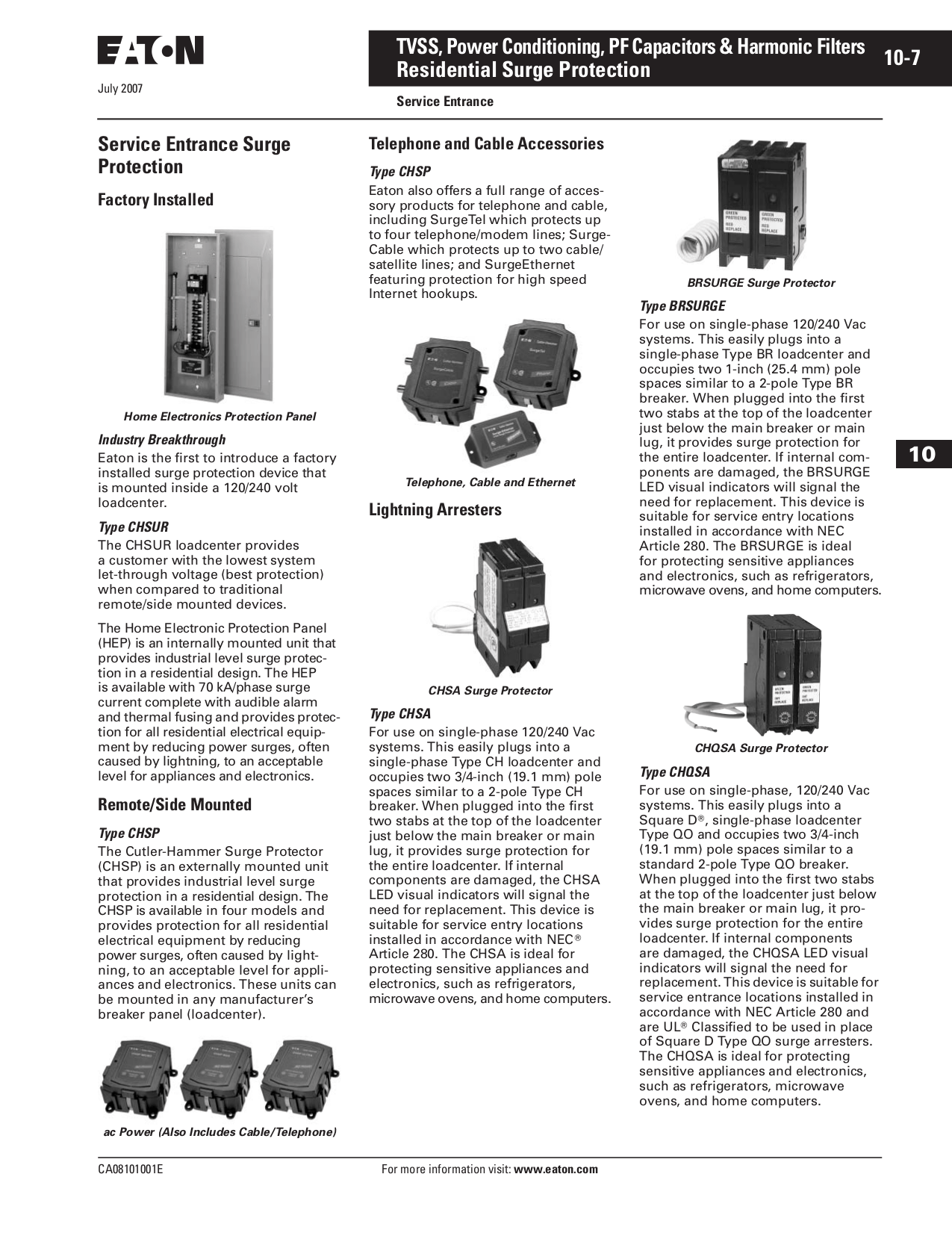 PDF manual for Intermatic Other AG2401 Surge Arrester