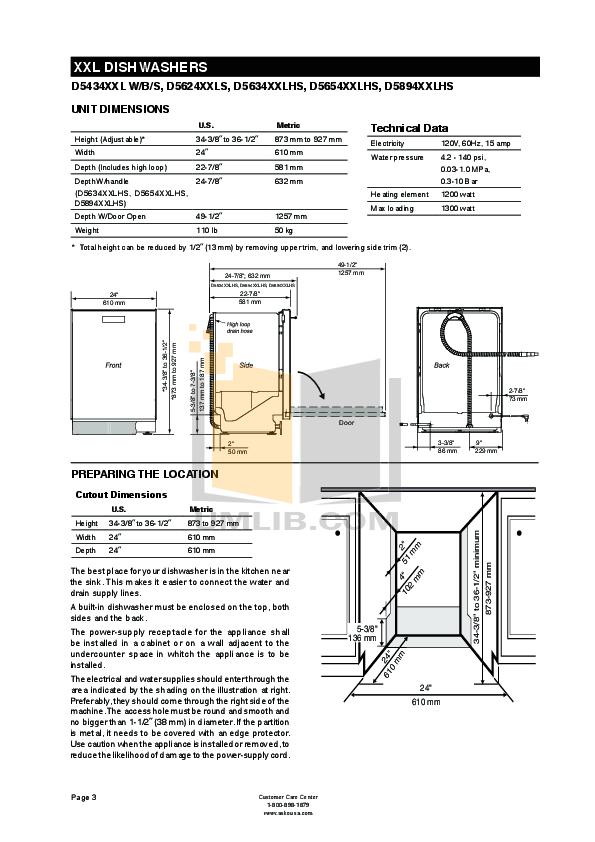 PDF manual for Asko Dishwasher D1796