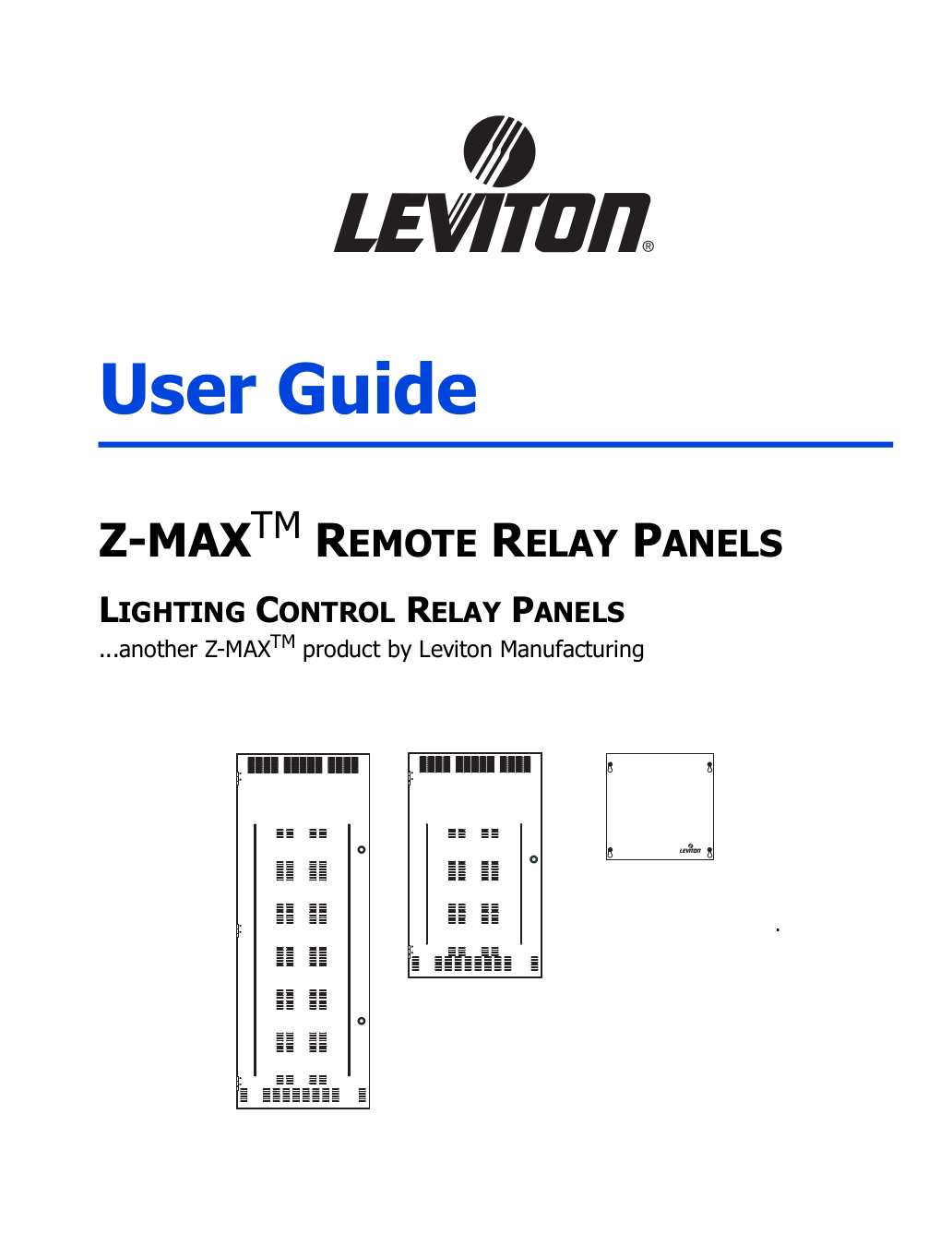 Download free pdf for Leviton Z-MAX R48SD Relay Panels