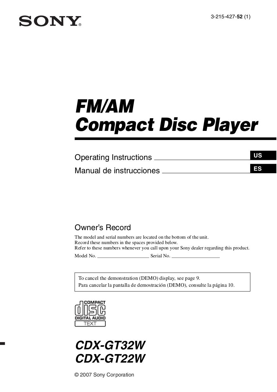 medium resolution of download free pdf for sony cdx gt32w car receiver manual sony car stereo wiring diagram pdf
