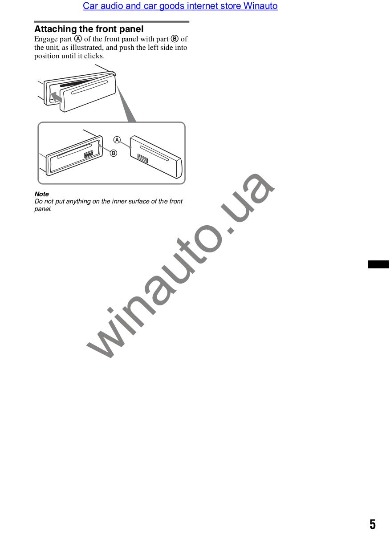 PDF manual for Sony CD Player Xplod CDX-GT230