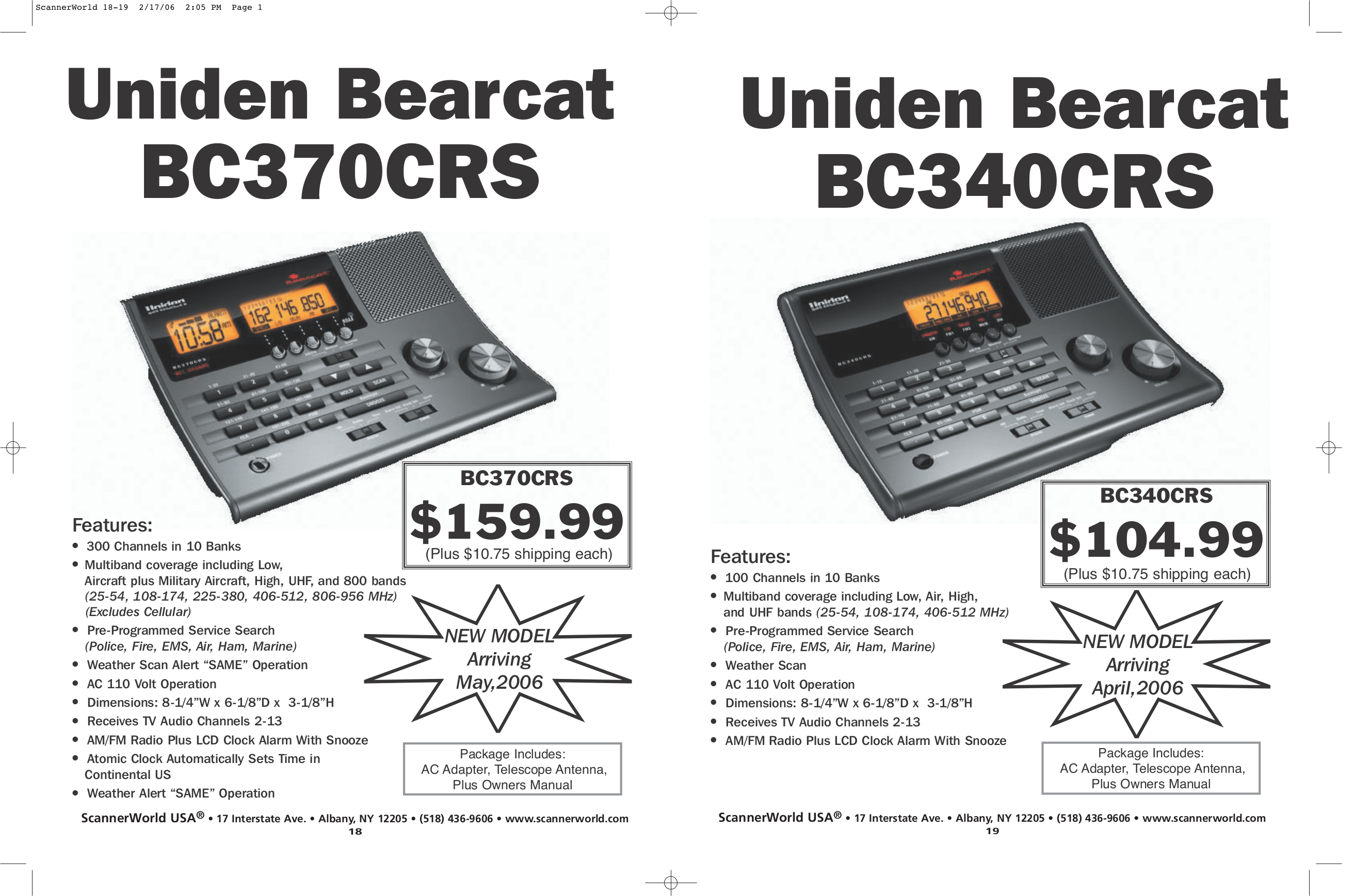Download free pdf for Uniden BC340CRS Scanner manual
