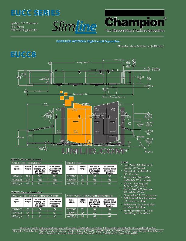 PDF manual for Champion Dishwasher EUCCW8
