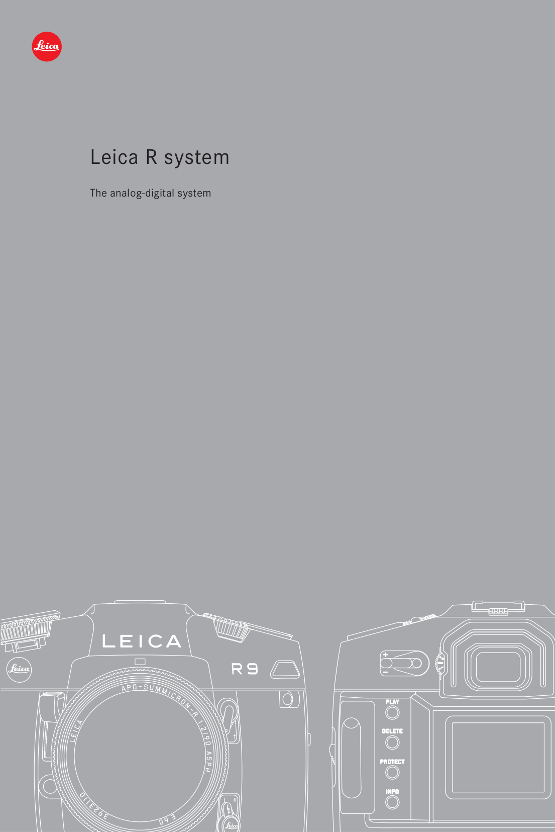 Download free pdf for Leica R9 Digital Camera manual