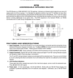 pdf for xantech router rt8 manual [ 1275 x 1651 Pixel ]