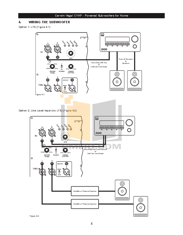 PDF manual for Cerwin-Vega Subwoofer AB-36B