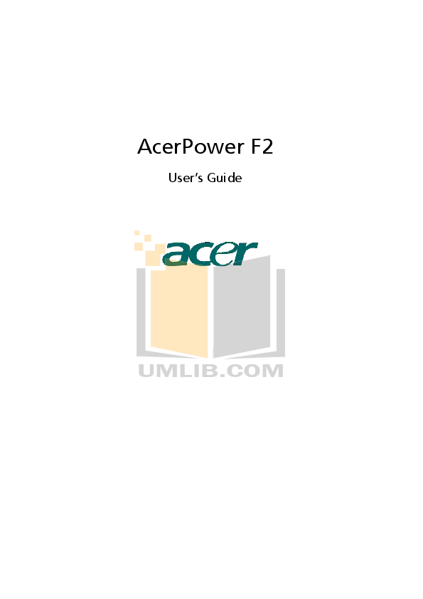 Download free pdf for Acer AcerPower 2000 Desktop manual