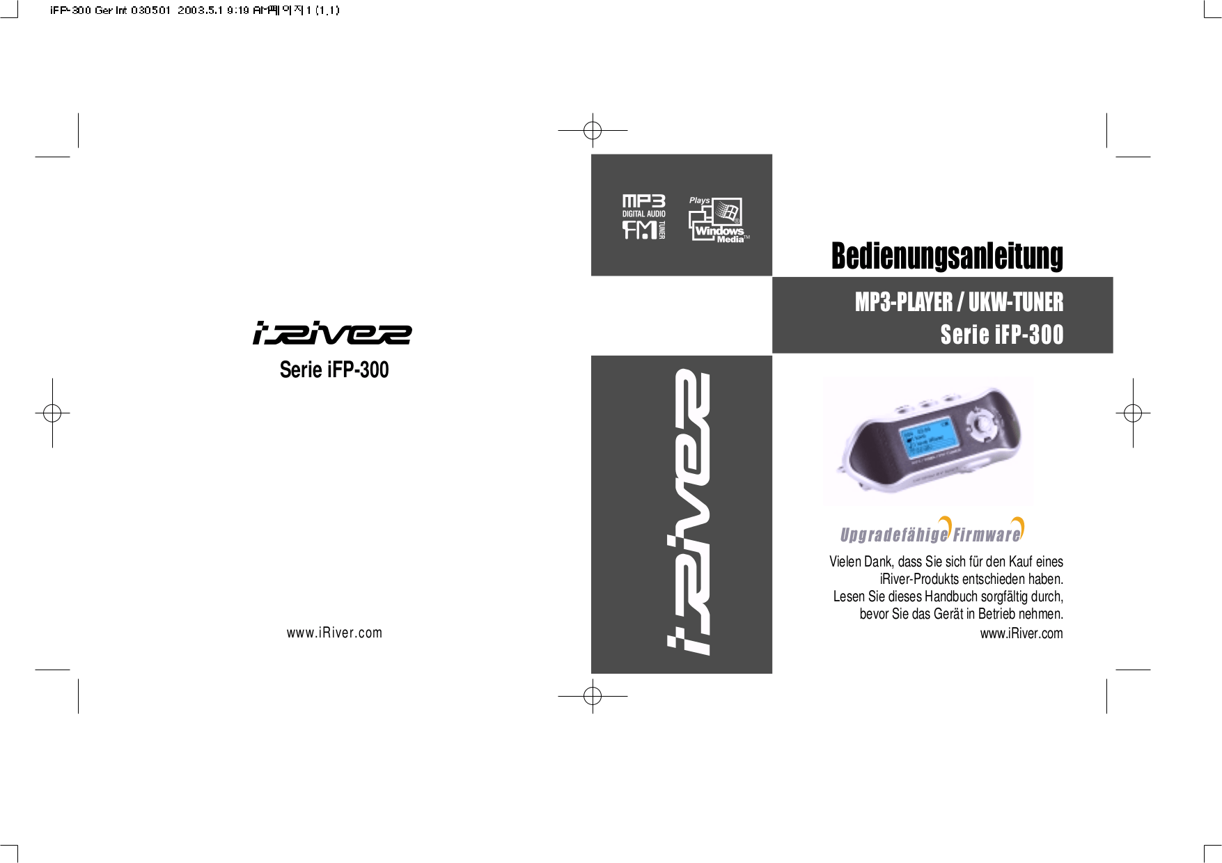 Download free pdf for iRiver iFP-390T MP3 Player manual