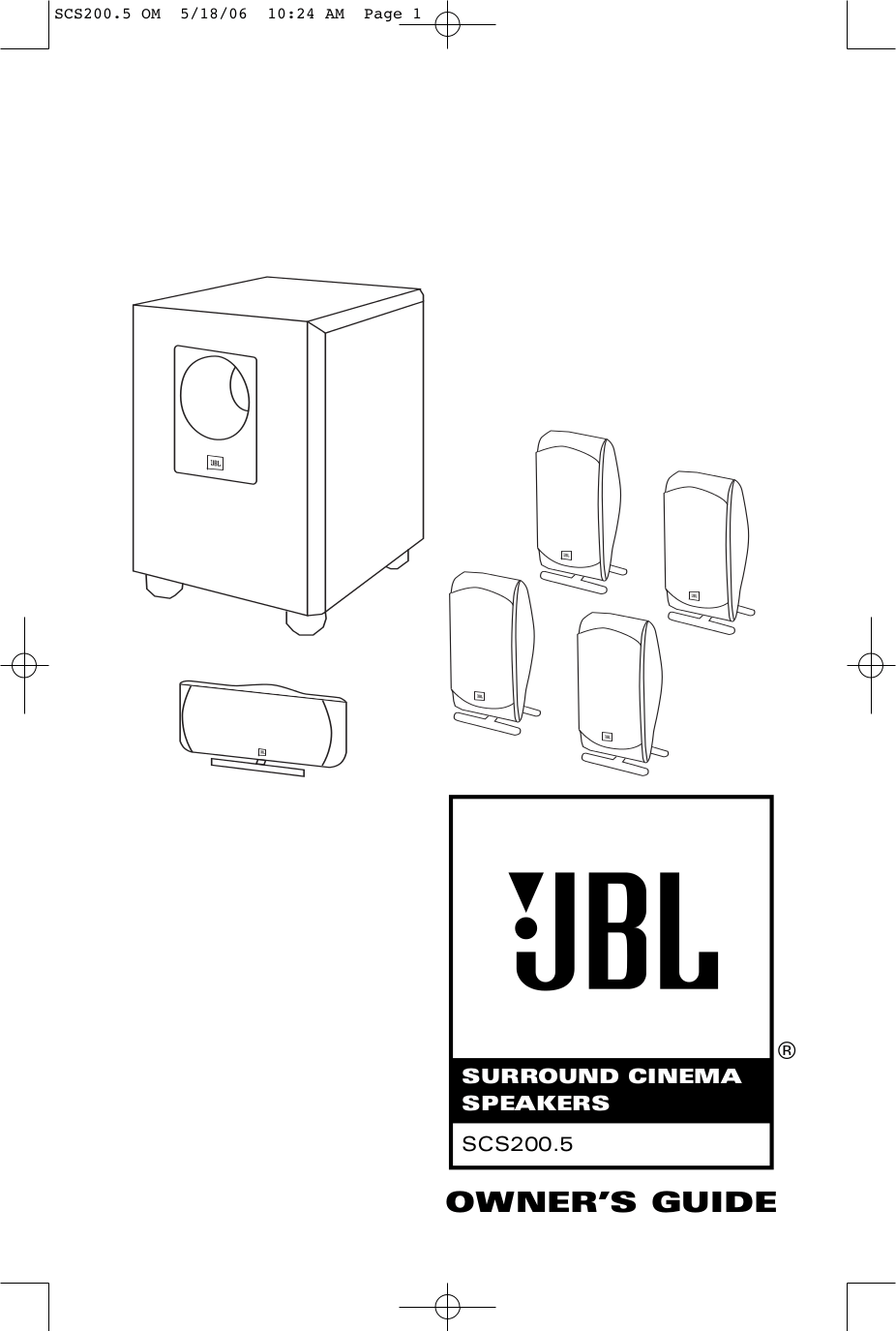 Download free pdf for JBL LX 2000 center Speaker manual
