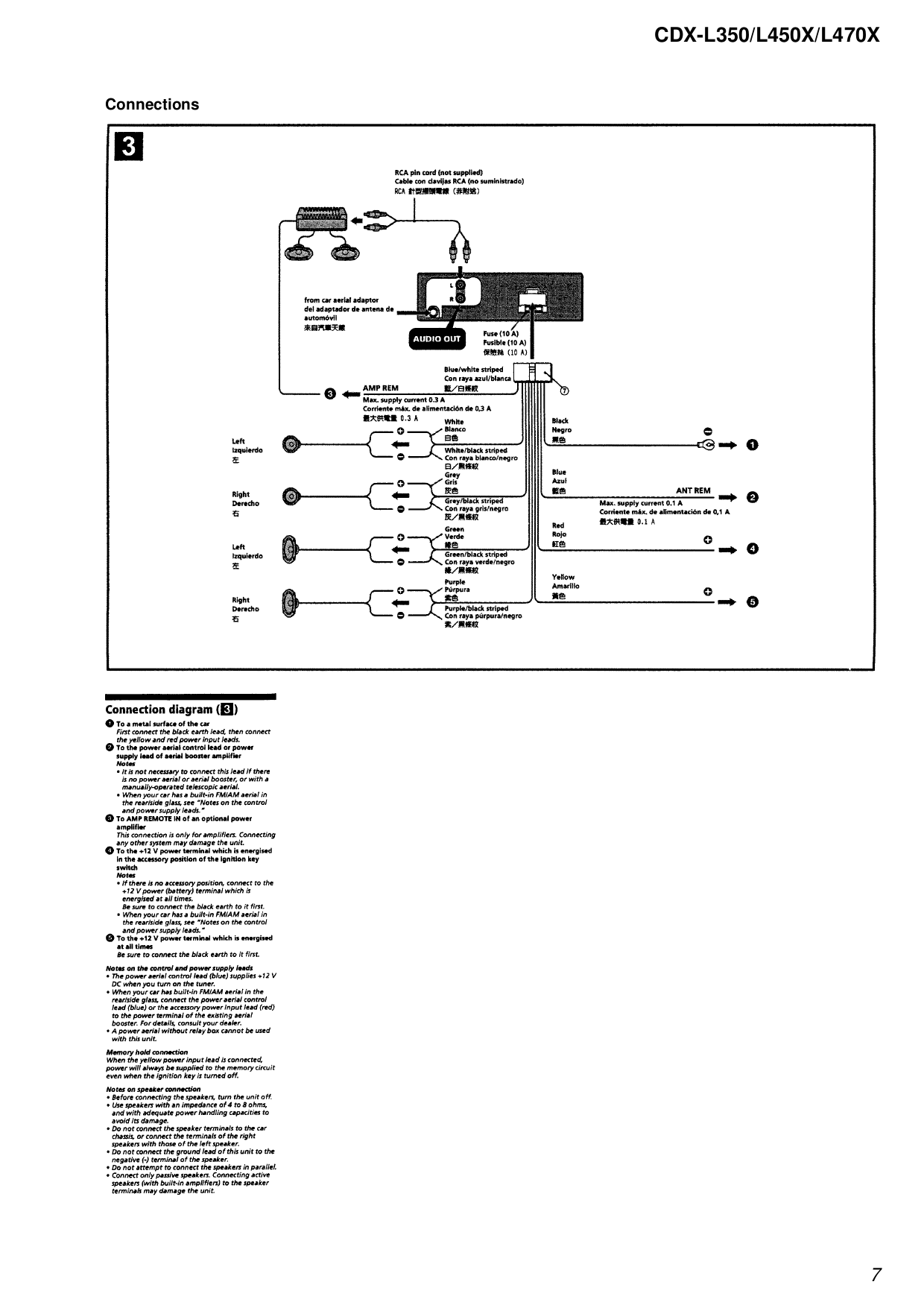 Sony Cdx L350 Wiring Diagram