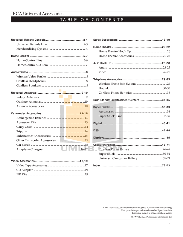 Download free pdf for Hitachi 46UX24B TV manual