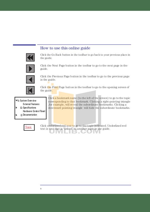 PDF manual for HP Desktop Kayak XU