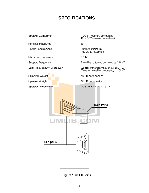 PDF manual for Bose Speaker 601 Series IV