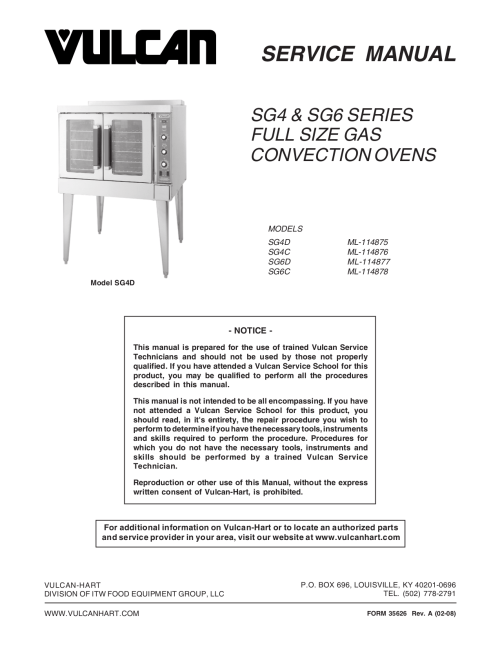 small resolution of vulcan convection oven manual vulcan electric convection oven manual charging system wiring diagram vulcan gas oven