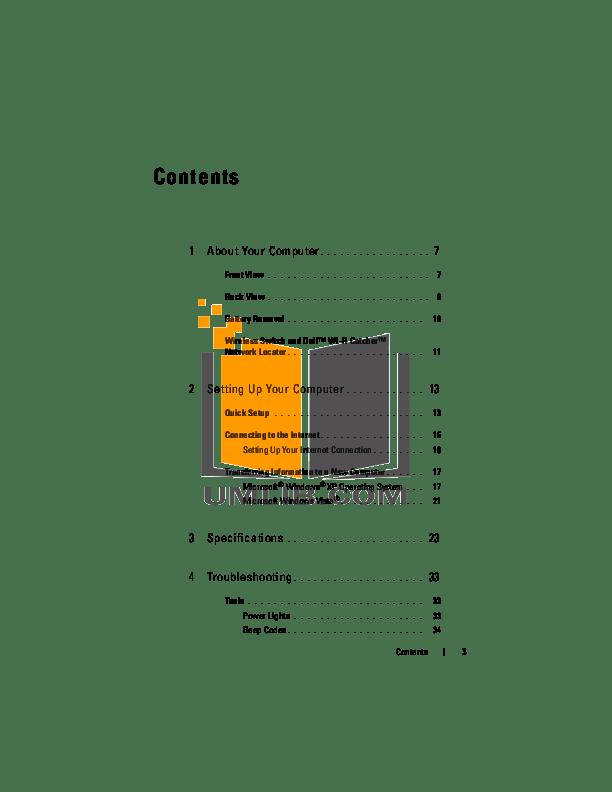 PDF manual for Dell Laptop Latitude E6500