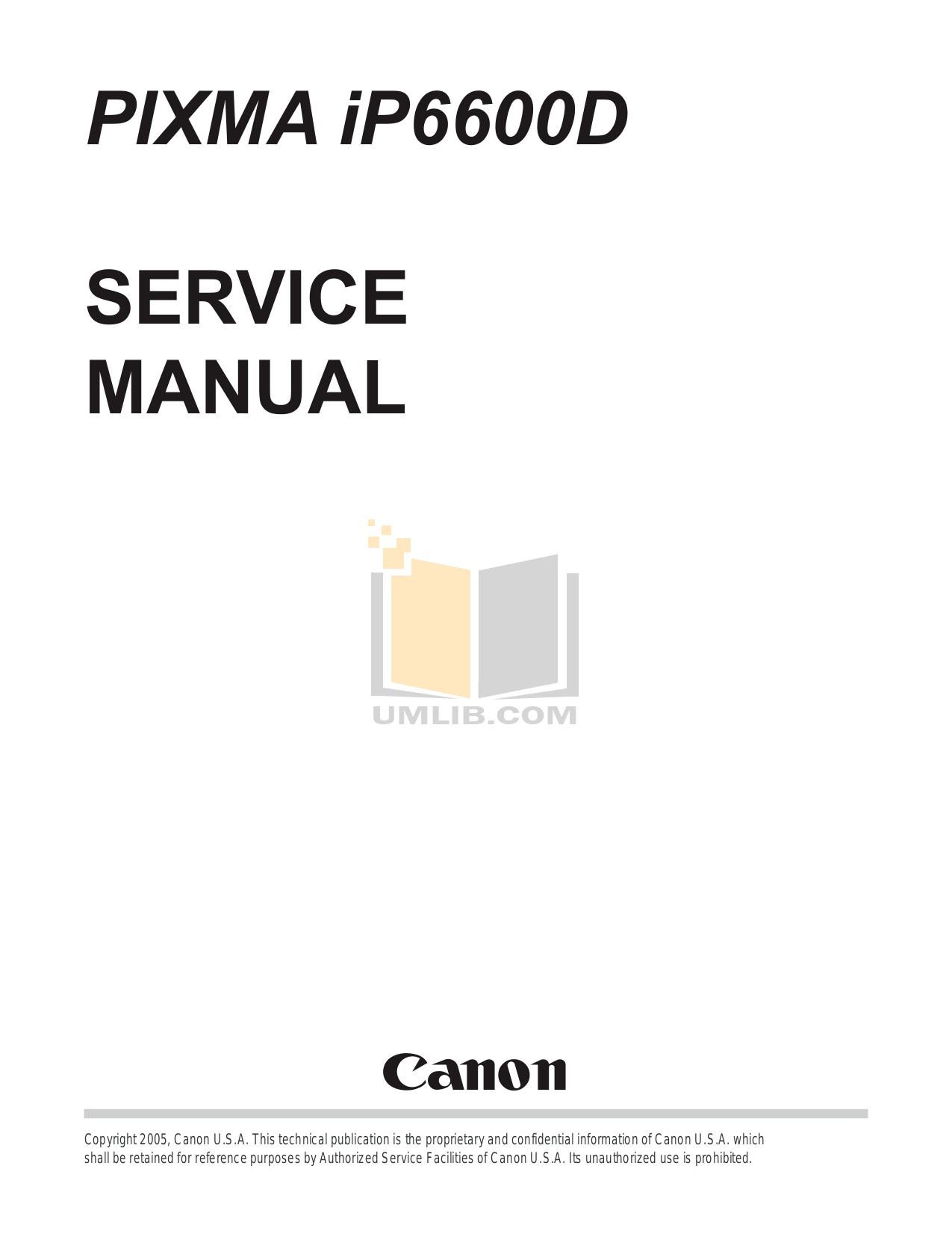 Download free pdf for Canon PIXMA iP6600D Printer manual